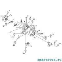 Датчик положения вала КПП / инкрементный Smart 450 ForTwo / 452 Roadster 1998 - 2007
