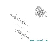 Пыльник ШРУСа наружнего Smart 450 ForTwo / Roadster 452 1998 - 2007