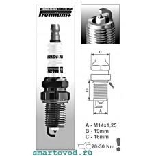 Свеча зажигания IRIDIUM Smart ForTwo 450 0.6L 1998 - 2002