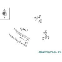 Спойлер - юбка передняя Smart ForTwo 2002 - 2007