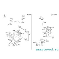 Гайка медная крепления выпускного коллектора Smart 450 / 451 ForTwo 0.8 L CDI 1998 - 2014