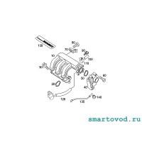 Трубка - клапан вентиляции картерных газов Smart ForTwo 450 / Roadster 452 1998 - 2007