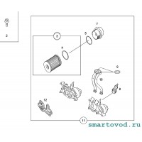 Прокладка теплообменника / радиатора охлаждения масла Smart ForTwo / Roadster 1998-2004