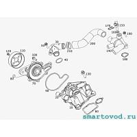 Штуцер / тройник системы охлаждения Smart 450 ForTwo 1998 - 2007