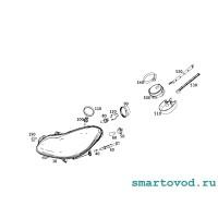 Колпачок / заглушка отверстия лампы ближнего света фара передней Smart 451 ForTwo 2007 - 2014