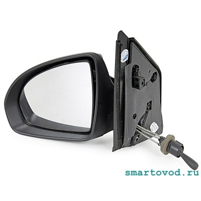 Зеркало боковое механическое левое в сборе Smart 451 ForTwo 2007 - 2014 (сферическое)