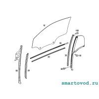Стекло / форточка задняя левая Smart 451 ForTwo 2007 - 2014