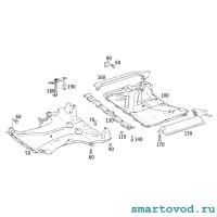 Защита днища передняя Smart 451 ForTwo 2007 - 2014 неоригинал