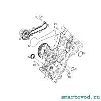 Прокладка / кольцо отверстия охлаждающей жидкости крышки ГРМ Smart 451 ForTwo 2007 - 2014