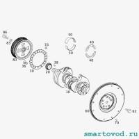 Болт крепления шкива коленвала Smart 451 ForTwo 2007 - 2014