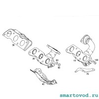 Прокладка выпускного коллектора / турбины Smart 451 ForTwo 2007 - 2014