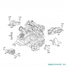 Опора / подушка двигателя дизель , справа Smart 451 CDI ForTwo 2007 - 2014