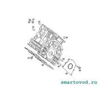 Сальник коленвала в корпусе задний (большой) Smart 451 ForTwo 2007 - 2014