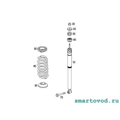 Пружина задней подвески Smart 451 ForTwo 2007 - 2014