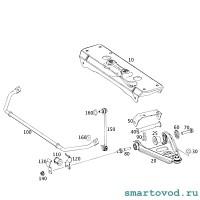 Втулка стабилизатора переднего Smart 451 ForTwo 2007 - 2014