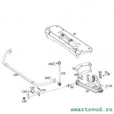 Скоба передняя / кронштейн втулки переднего стабилизатора Smart 451 ForTwo 2007 - 2014