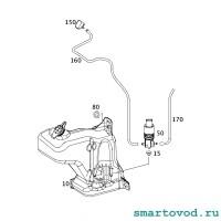 Форсунка стеклоомывателя переднего Smart 451 ForTwo 2007 - 2014