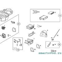 Решетка динамика декоративная левой двери Smart Roadster 2004 -2006