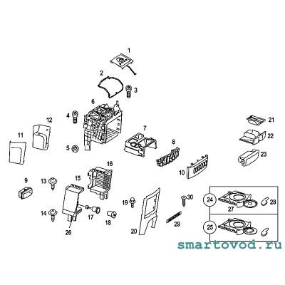 Световод подсветки управления заслонками воздуховодов Smart Roadster