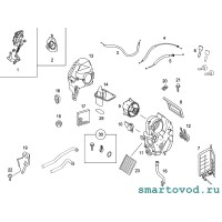 Ручка / рычаг управления заслонками воздуховодов ЧЕРНАЯ Smart ForTwo / Roadster 1998 -2007
