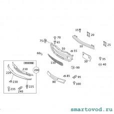 Решетка радиатора Smart 452 Roadster 2004 - 2006