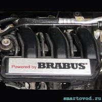 Шильдик / логотип / декоративная накладка BRABUS на двигатель Smart 450 /452 ForTwo / Roadster