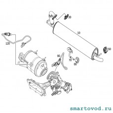 Выпускная система / Выхлоп / Глушитель Smart 453 ForTwo / ForFour 2014 -->