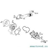 Прокладка штуцера системы системы охлаждения Smart 453 ForTwo / ForFour 2014 ->