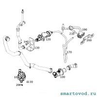Термостат системы охлаждения Smart 453 ForTwo / ForFour 2014 ->