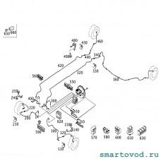 Шланг тормозной передний Smart 453 ForTwo / ForFour 2014 ->