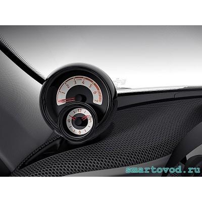 Декоративное кольцо ЧЕРНОЕ дополнительных приборов в кокпите SMART 453 FORTWO / FORFOUR