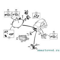 Повторитель поворотника в переднем крыле Smart 453 ForTwo / ForFour 2014 ->