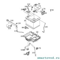 Датчик заряда батареи Smart 453 FoTwo / ForFour 2014 ->