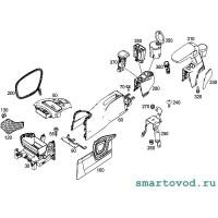Центральный подлокотник / подстаканник Smart 453 ForTwo 2014 - >