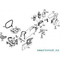 Центральный подлокотник / подстаканник Smart 453 ForFour 2014 - > с навигацией