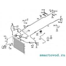 Трубка кондиционера / магистраль хладогента от радиатора / фреона Smart 453 ForTwo / ForFour  2014 - >