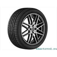 """BRABUS Monoblock IX задний легкосплавный колесный диск 17"""" матовый серый / полированный"""