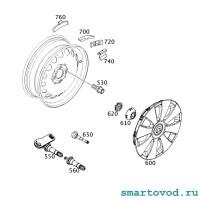 Вентиль колесный для ремонта датчика давления в шинах Smart 453 ForTwo / ForFour 2014->