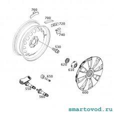 Датчик давления в шинах Smart 453 ForTwo / ForFour 2014->