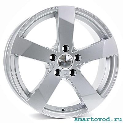 "Диски легкосплавные DEZENT TD silver 15"" Smart 453 ForTwo / ForFour 2014-> комплект 4шт."