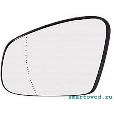 Зеркало / элемент / вставка левое с обогревом Smart 453 ForTwo / ForFour 2014 -> (асферическое)