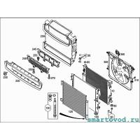 Воздуховод нижний / дефлектор Smart 453 ForTwo / ForFour 2014 ->