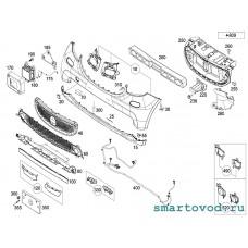 Фартук спойлера / боковые части нижней губы Smart 453 ForTwo 2014 ->