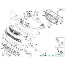 Опора / абсорбер бампера переднего левый Smart 453 ForFour 2014 ->