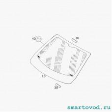 Стекло лобовое (ДД) Smart 453 ForTwo 2014 -> неоригинал