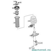 Подшипник опорный / опоры верхней переднего амортизатора / пружины Smart 453 ForTwo / ForFour 2014 - >