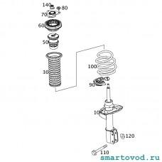 Амортизатор передний газонаполненный Smart 453 ForTwo 2014 ->