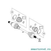 Пыльник ШРУСа внешнего Smart 453 ForTwo / ForFour 2014 -> неоригинал