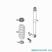 Амортизатор задний газонаполненный Smart 453 ForTwo / ForFour 2014 ->