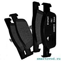 Колодки тормозные передние дисковые Smart 453 ForTwo / ForFour 2014 ->